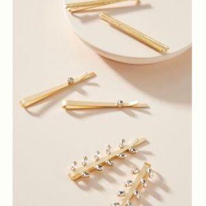 ANTHRO Sweet rhinestone-embellished hairpins